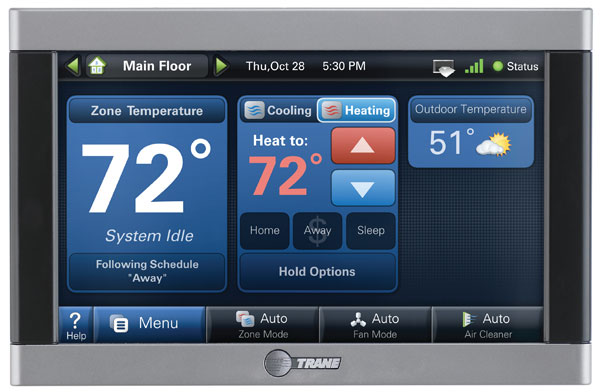 Programmable thermostat from Vilandre Heating, Air Conditioning & Plumbing for energy savings and ideal home comfort.